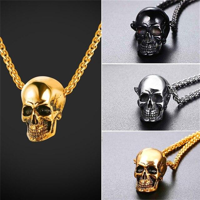 Gothic Devil Skull Pendant Necklace 8