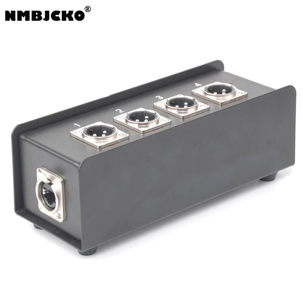 NMBJCKO 4 X XLR Male To RJ45 Breakout Box - Move Audio Via CAT5 CAT6 Networking Cables