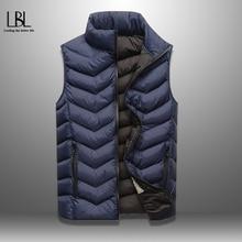 Male Vest Clothing Sleeveless Jacket Casual Waistcoat Warm Autumn Winter Brand 5XL Solid