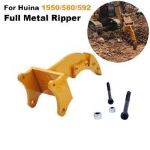 Full Metal Ripper Parte Per HUINA 1550/580/592 1:14 RC In Metallo Escavatore Metal Rock Ripper Parte