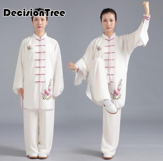 2019 Martial Arts Performance Suit Jiu Jitsu Women Men Chinese Kung Fu Wushu Uniform Tai Chi Suit Costume Wing Chun Clothing