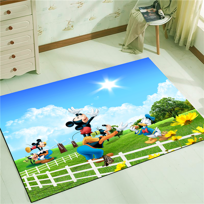 Mickey Minnie  Anti-slip Kitchen Dinning Room Fireplace Floor Mat Carpet Rug Durable Xmas Home Decor Floor Rug