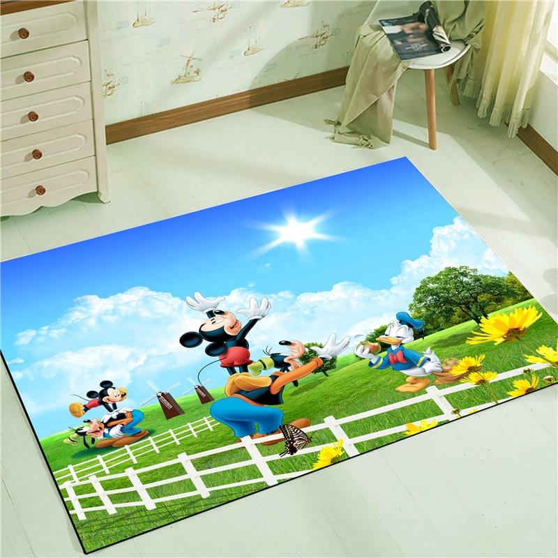 Mickey Minnie  Anti-slip Kitchen Dinning Room Fireplace Floor Mat Carpet Rug Durable Xmas Home Decor Floor Rug