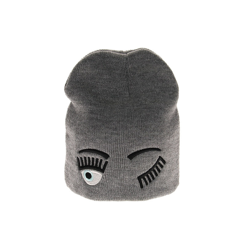Winter Hats Pullover Beanie Warm-Caps Embroidery Knitted Wool Girls Children's Cartoon