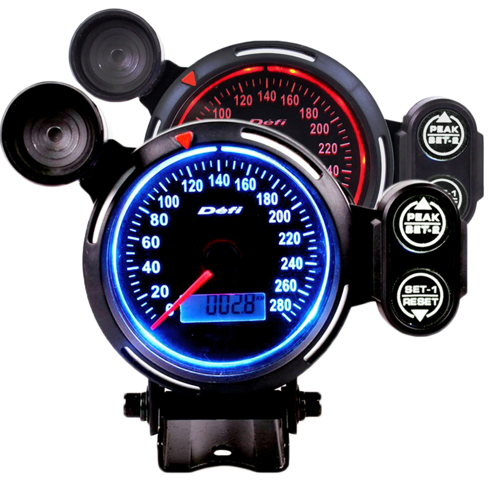 80MM Digital Speedometer 280 MPH Speed Meter Gauge Alarm Gauge With Red Shift Light-in Speedometers from Automobiles & Motorcycles    1