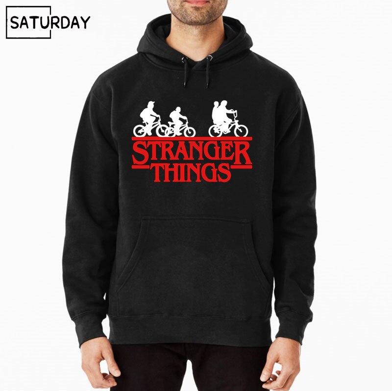Stranger Things Streetwear TV Show Third Season Men Black Original Hoodies New Arrival Cotton Stranger Things Hoodie Men