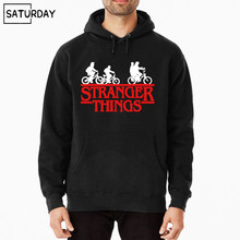 Stranger Things Streetwear TV Show Third Season Men Black Original Hoodies New Arrival Cotton Hoodie
