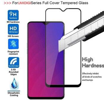 Перейти на Алиэкспресс и купить 9H 2.5D полное покрытие закаленное стекло для UMIDIGI X F1 Power One Max Защита экрана для UMIDIGI F1 Play S3 A5 профессиональная защитная пленка