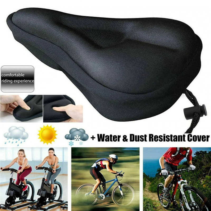 MTB Saddle Comfortable Bike Bicycle Cycling Seat Wide Soft Gel Cushion Pad