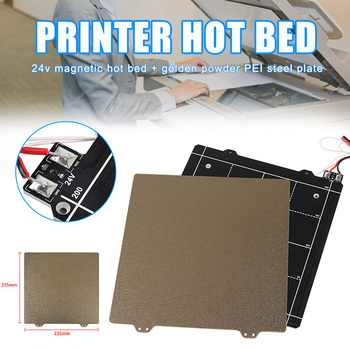 24V Magnetic Heated Bed and Double Sided Powder Coated PEI Steel Sheet 3D Printer Part for Ender-3 HSJ-19