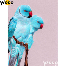 Full Square/Round drill diamond Painting Blue parrots 5D DIY diamond embroidery mosaic Decoration painting AX0110 full square round drill diamond painting blue parrots 5d diy diamond embroidery mosaic decoration painting ax0110