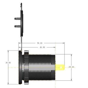 Image 4 - 12V/24V 18W Aluminum Waterproof Dual QC3.0 USB Fast Charger Socket Power Outlet with LED Digital Voltmeter for Car Marine Boat