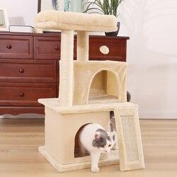 Envío doméstico juguete de gato para rascar madera árbol de escalada juguete de salto de gato con escalera Marco de escalada muebles de gato poste de rascar