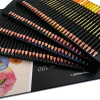 120 Colors Watercolor Pencils Set Water Soluble Colored Pencils With Iron Box For Art Students Sketch Coloring