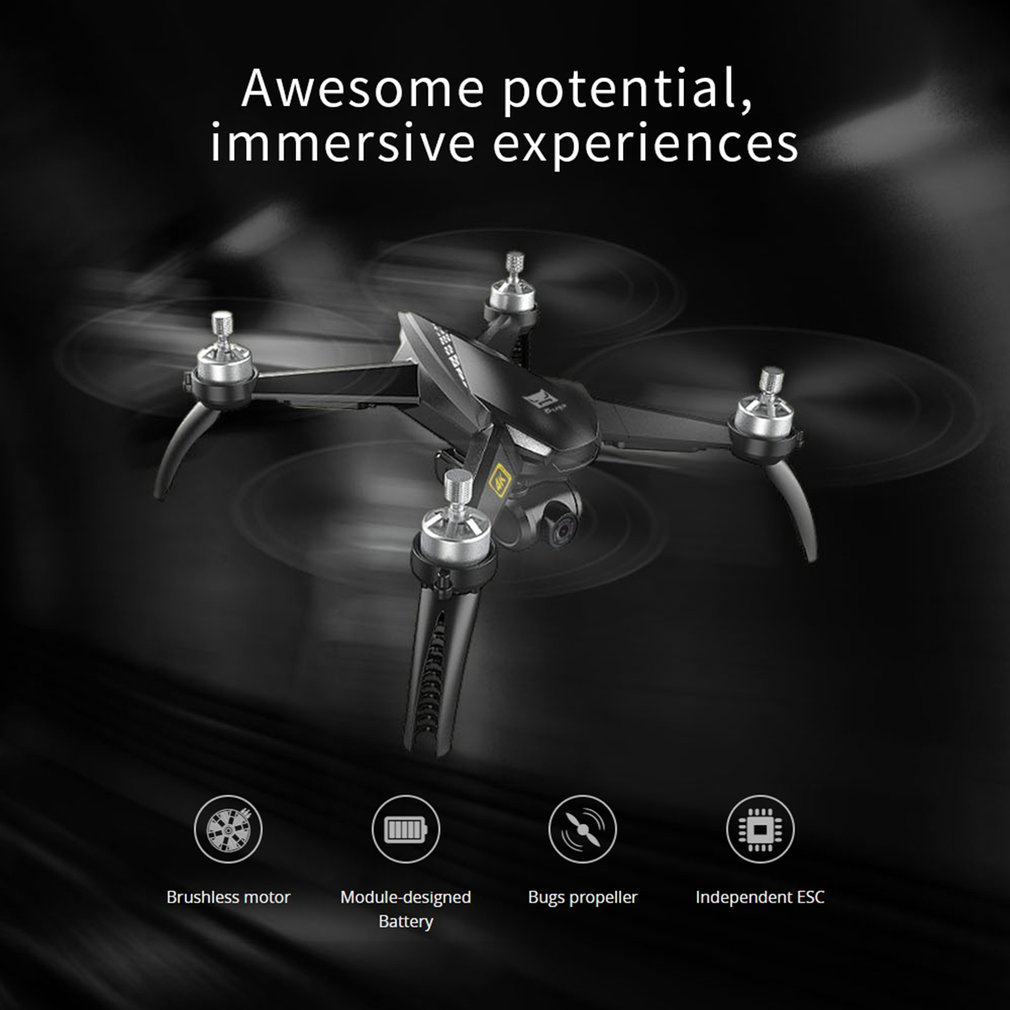 lowest price 2019 NEW MJX B5W Drone GPS Brushless 5G RC Quadcopter Upgraded 4K Wifi dron FPV Camera HD Auto Return 20min Drones Time Toys