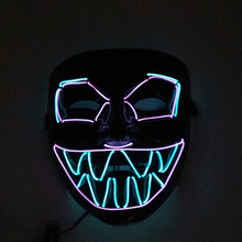 Creative Luminous Halloween Mask Party Masque Masquerade Masks Neon Maske Light Glow In The Dark Cosplay Props Accessories