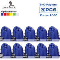 20PCS Zackpack Sports Drawstring Bag Waterproof wholesale Backpack Custom logo Fitness Polyester bag Printing for Women Students