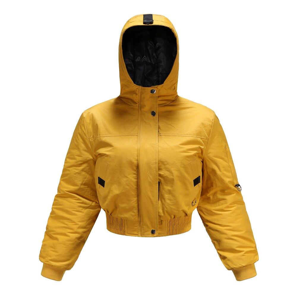 Купить женская осенне зимняя укороченная стеганая куртка с капюшоном