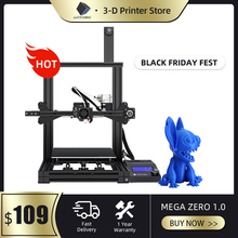 ANYCUBIC מגה אפס DIY 3D מדפסת שולחן עבודה 3d צבע הדפסת מכבש מתכת מסגרת Impresora 3d דיוק גבוה impressora