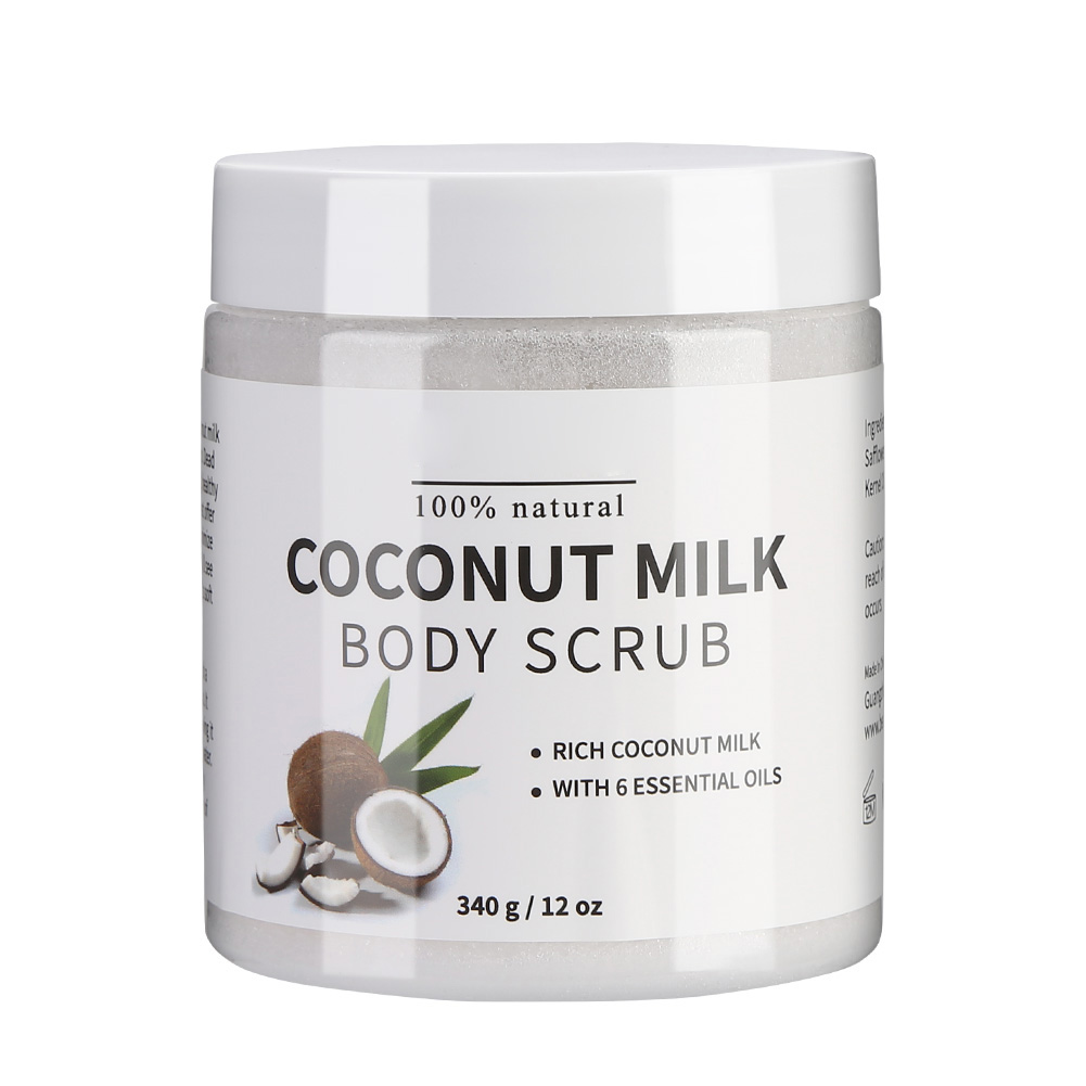 Naturally Pure Body Naturals Coconut Milk Exfoliating Body Scrub Bath Salt Exfoliating Coconut Milk Scrub For Face Body Ageless