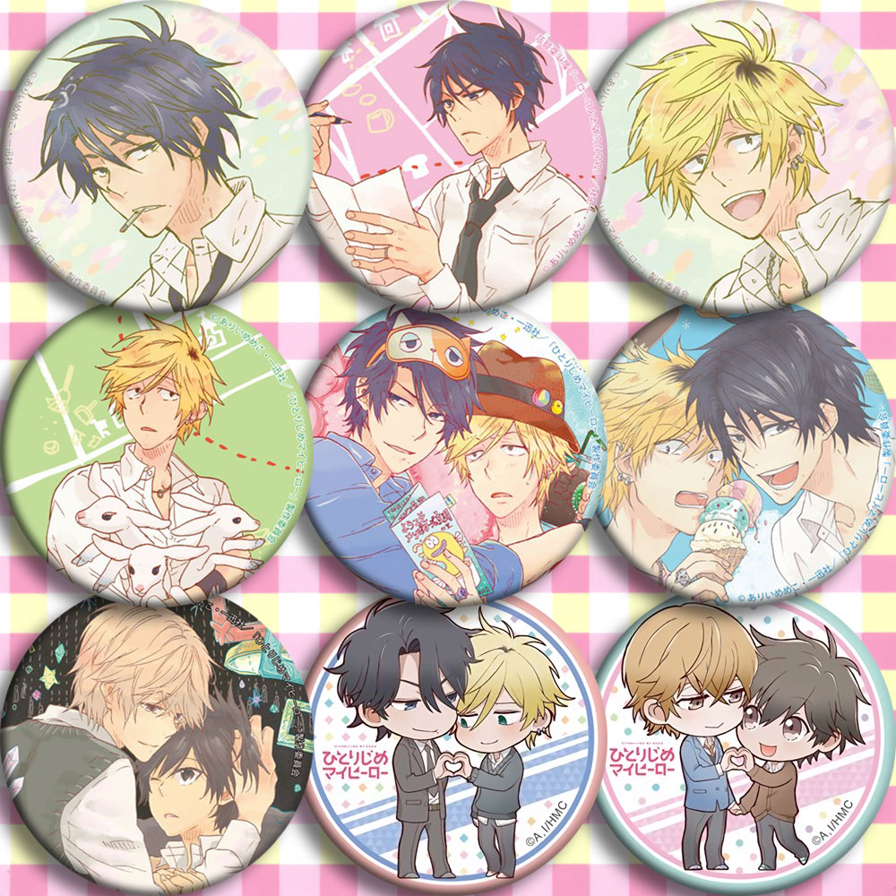 Anime Hitorijime My Hero Kosuke Oshiba Cosplay Badge Cartoon Brooch Pins Collection Bags Badges For Backpacks Button Gifts