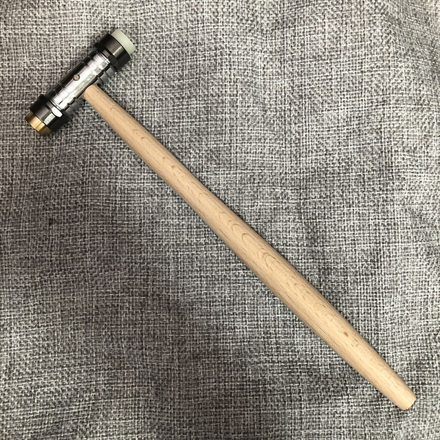 30417 double hammer brass synthetic material small hammer hammer repair tool