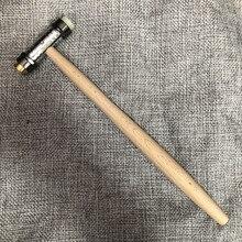 30417 çift çekiç pirinç sentetik malzeme küçük çekiç çekiç onarım aracı