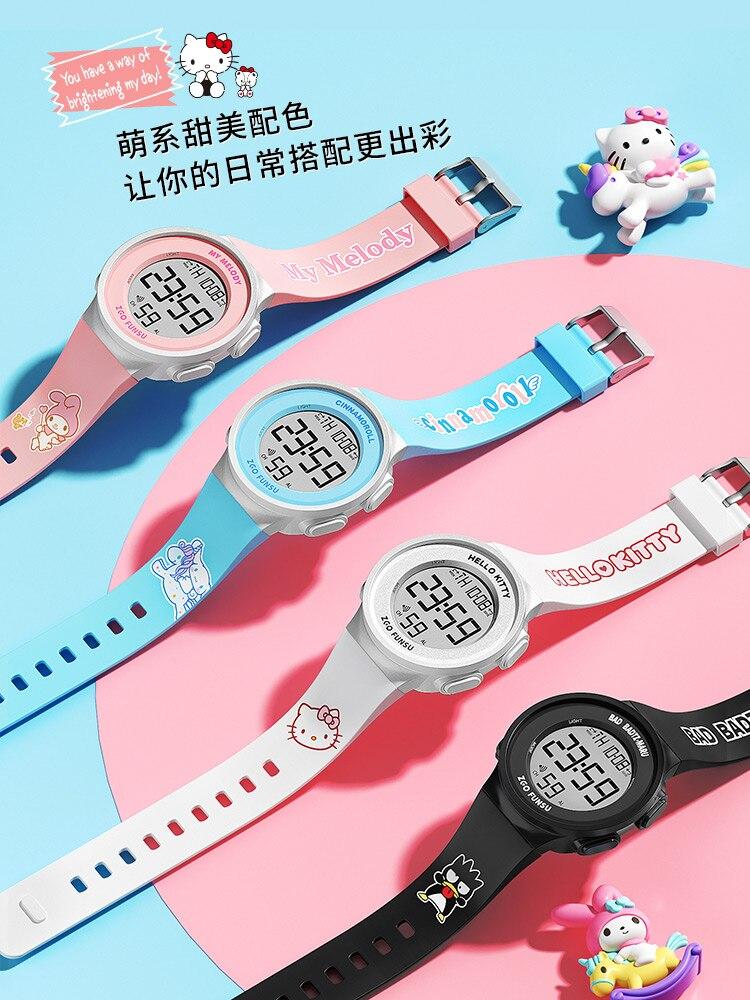Дисней Часы женщины% 27 Спорт Водонепроницаемый Девочки Настоящие Единорог Девочки электронные часы для средних и старших школьников привет котенок