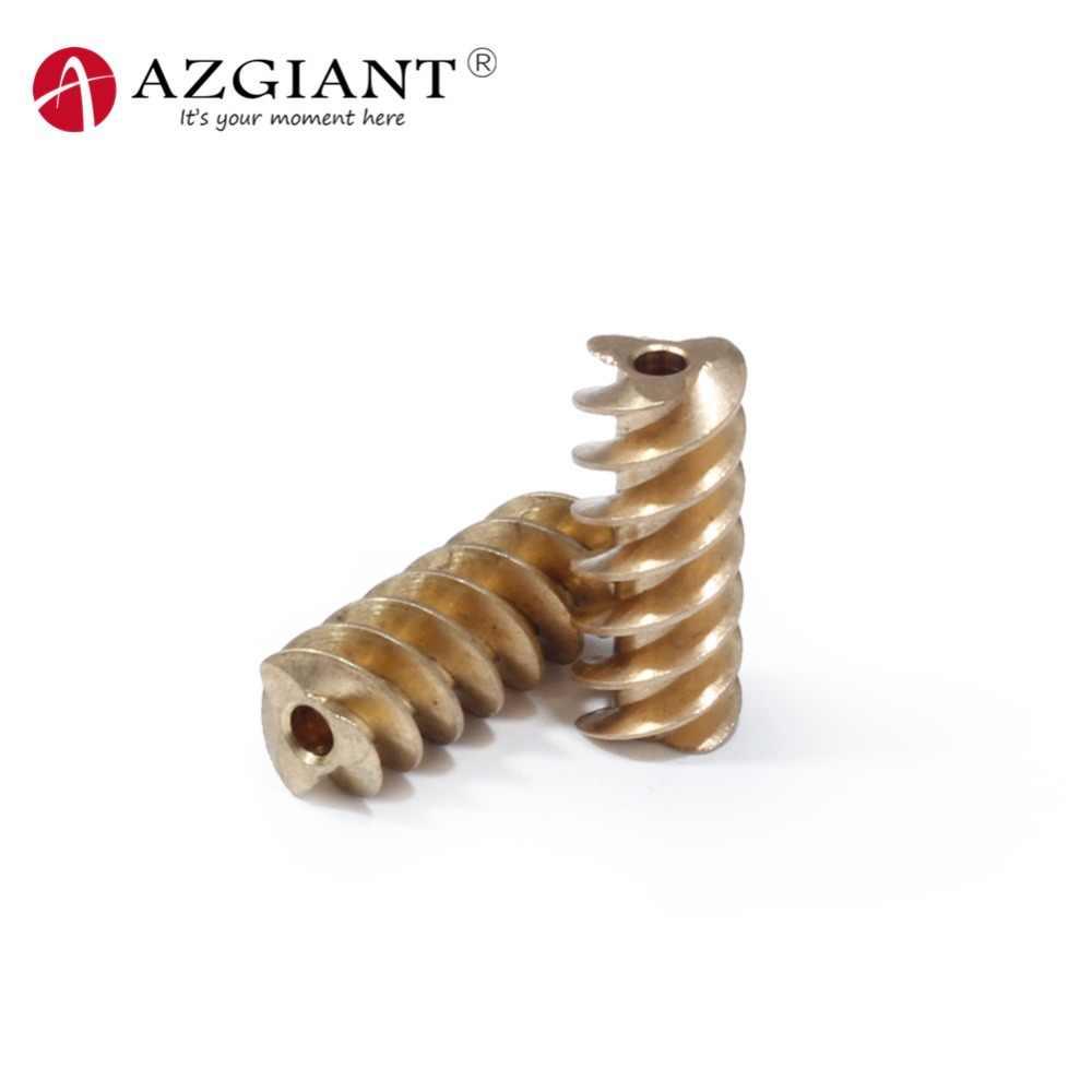 18*7.5*2.3mm de cobre worm engrenagem para dc 385 motor carro elv esl steer lock engrenagem do motor diâmetro interno 2.3mm bronze