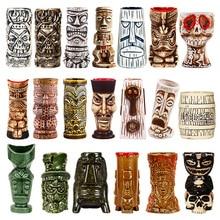 Tazas Tiki con personalidad hawaiana, tazas creativas, tazas de cerámica, bar, copa de Zombie, tazas de cerámica creativa
