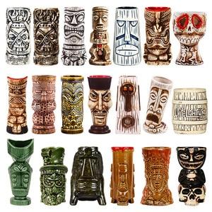 Image 1 - Tiki canecas personalidade havaiano cocktail copo criativo canecas cerâmica copo copo zombie copo cerâmica tazas de ceramica creativas