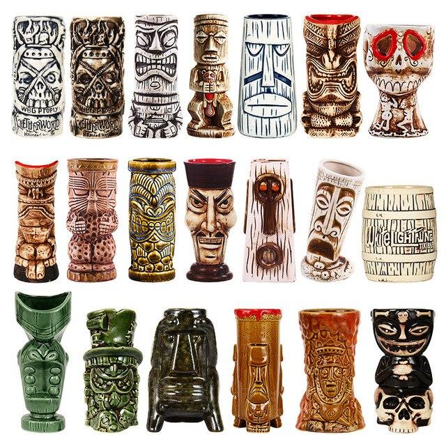 Tiki canecas personalidade havaiano cocktail copo criativo canecas cerâmica copo copo zombie copo cerâmica tazas de ceramica creativas