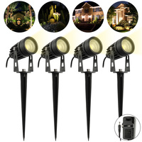 LED Lights Garden Plug Floor Lights 4 COB Outdoor Lights Landscape Spotlights LED Garden Lights IP65 Protection