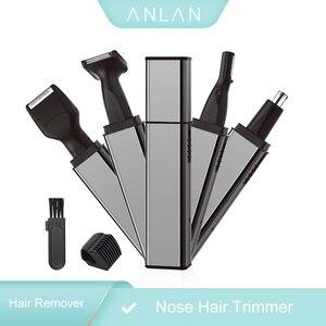 Image 1 - ANLAN trymer do włosów w nosie dla mężczyzn trymer do uszu trymer do włosów w nosie trymer do nosa bezprzewodowy akumulator trymer do brody