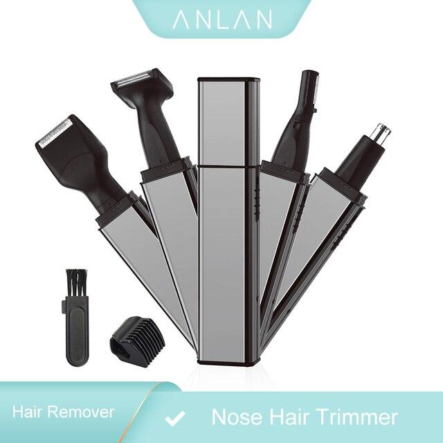 ANLAN trymer do włosów w nosie dla mężczyzn trymer do uszu trymer do włosów w nosie trymer do nosa bezprzewodowy akumulator trymer do brody