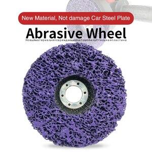 Image 1 - Полиполосный диск 125 мм, абразивные диски для удаления краски и ржавчины, чистящие шлифовальные круги для долговечной угловой шлифовальной машины, грузовик, мотоциклы