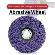 125mm Poly bande disque abrasif roue peinture rouille dissolvant propre meules pour meuleuse dangle Durable voiture camion motos