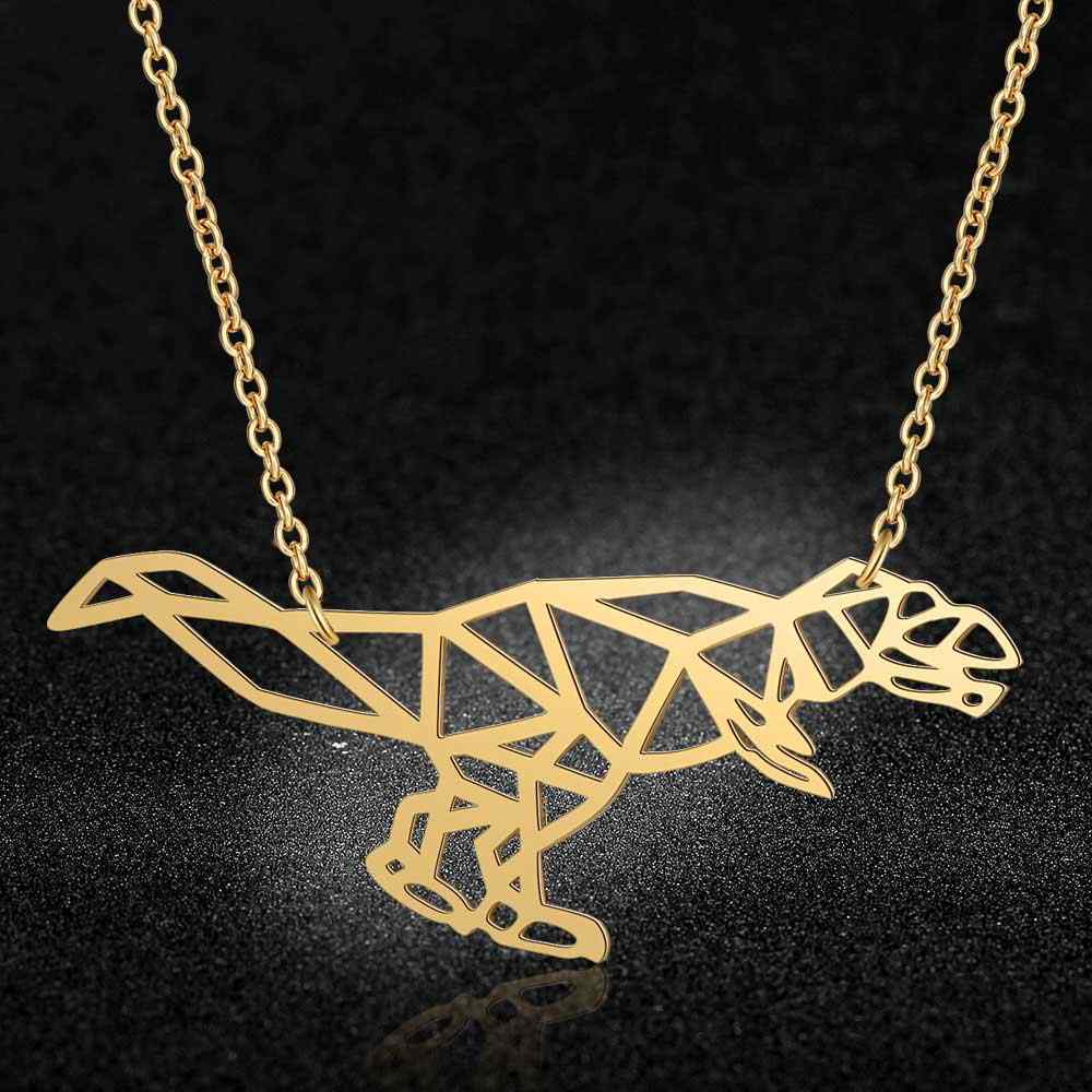 100% Real Stainless Steel 40cm Large Animal Dinosaur Long Necklace Trend Jewelry Necklaces Unique Animal Jewelry Necklace