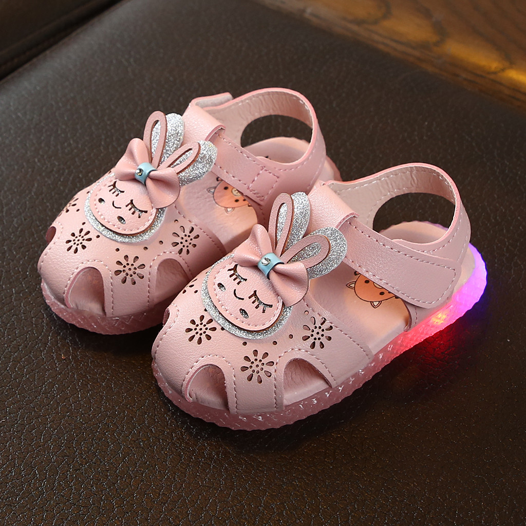 Summer Infant Kids Baby Girls Cat Cartoon Princess Sandals Casual Shoes 18M-7T