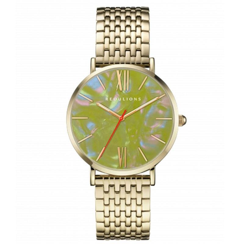 European and American men's simple men and women quartz watch stainless steel fashion British men and women quartz watch