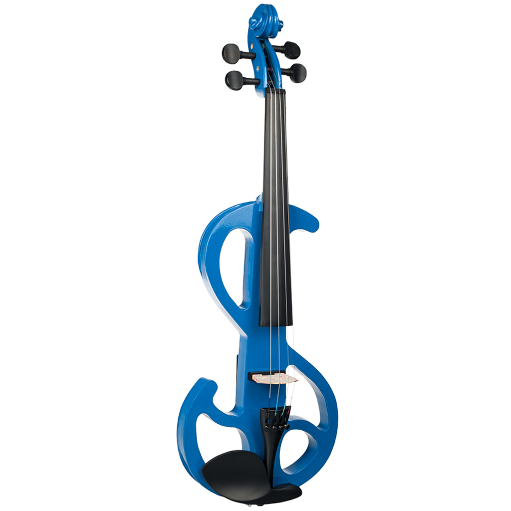 1 Set 4/4 Electric/Silent Violin Blue Concert Gig Stage Performance Accessory