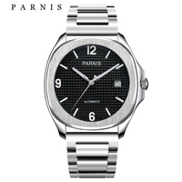 Parnis Automatic Men Watch Minimalist Wristwatch Miyota Sapphire Crystal Mechanical Men's Watches relogio masculino Gift Clock