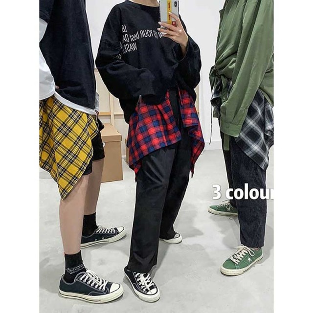 NiceMix New Plaid women's Hip Skirt 2019 New Fashion Waist Band Asymmetrical Cut Skirt for Men/women Street Dance Skirts plaid 3