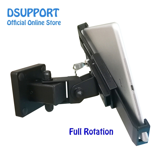 New Tablet stand holder desk stand/wall mounted anti thief for 7 13 inch variety size tablets, universal tablet stand with lock
