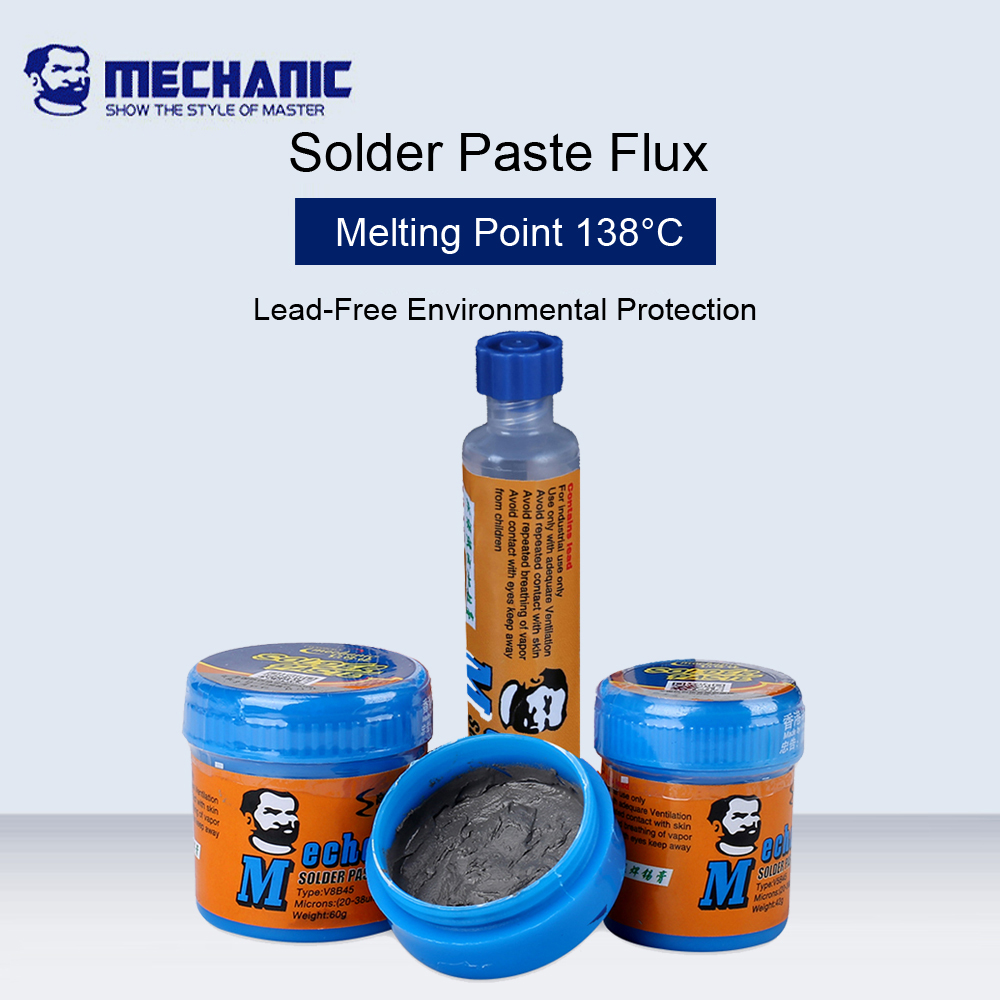 MECHANIC 138 Degree Low Temperature Lead-Free Solder Paste Flux For CPU Rework Welding Solder Environmental Protection Flux