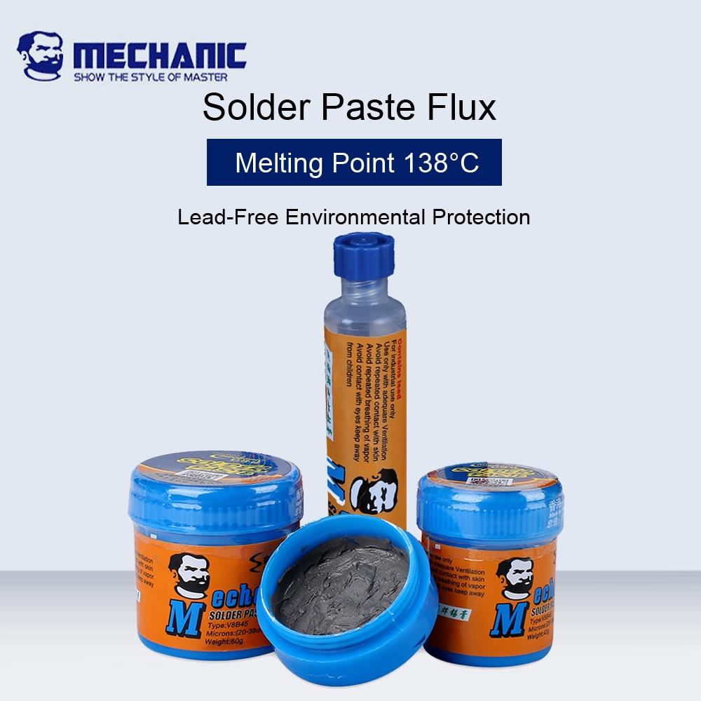 MECHANIC 138 Degree Low Temperature Lead-Free Solder Paste Flux For CPU Rework Welding Solder Environmental Protection Flux