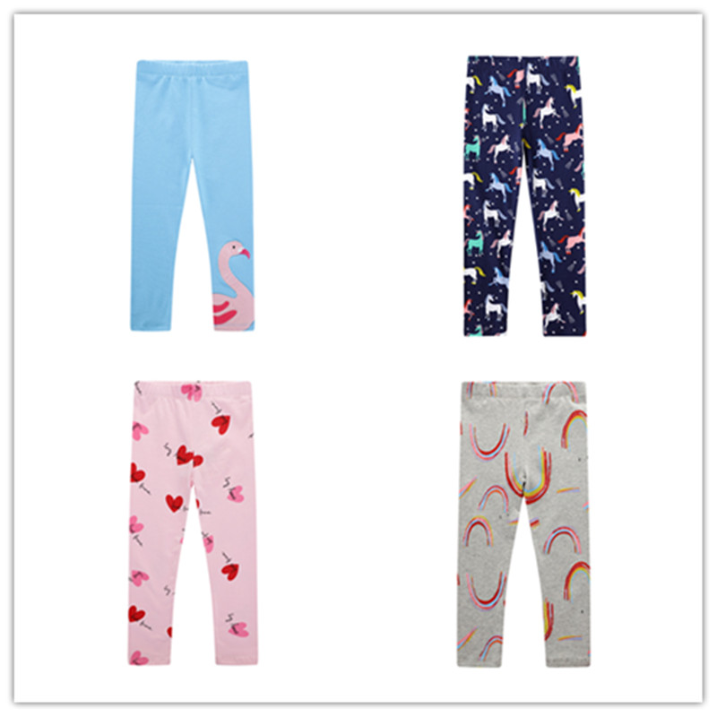 VIDMID 2-7 years girls cartoon striped pants kids baby cotton clothes children floral pants  baby trousers girls trousers W01 1