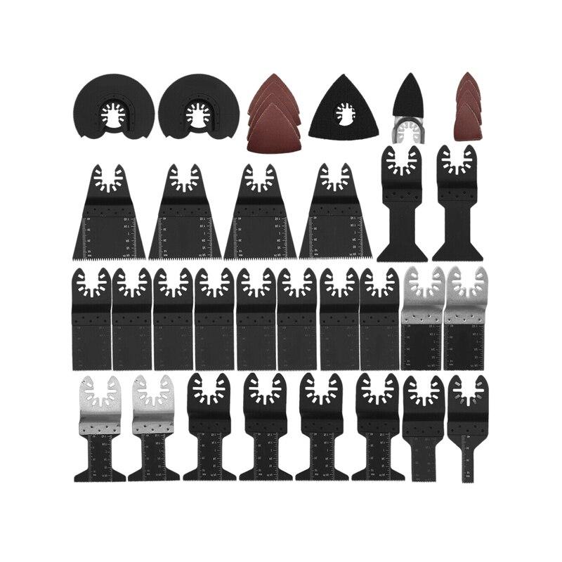 Offre spéciale 68 pièces/ensemble lame de scie oscillante multifonction bricolage pour Fein Multimaster Dewalt Makita Bosch outil rotatif Multimaster