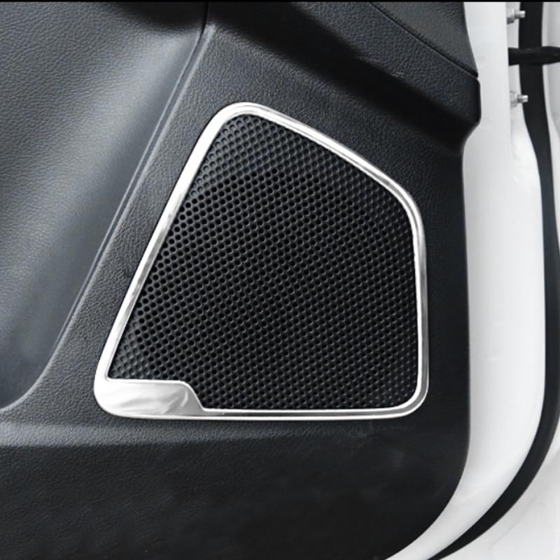 Foal Burning 4PCS SET Automobile door sound stainless steel decoration frame for Ford Focus 3 4 MK3 MK4 focus2012-2017