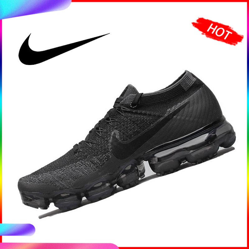 Original Authentic Nike Air Vapor Max Flyknit Men's Running Shoes Outdoor Classic Sports Mesh Lightweight Breathable 849558-006